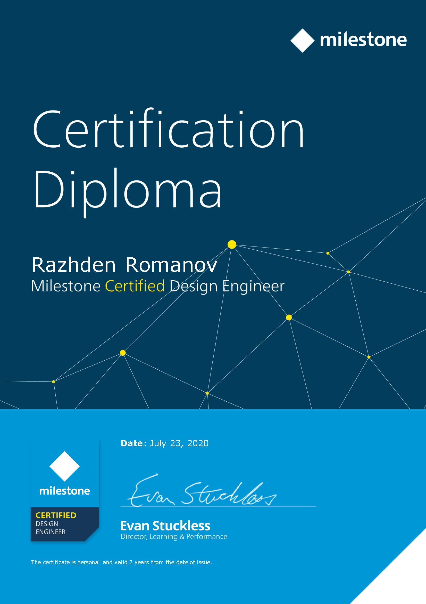 Milestone Certified Design Engineer